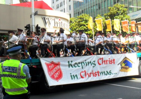 The Salvation Army Band and its firm Christmas statement